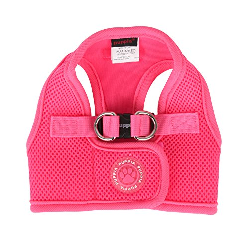 Puppia Harness Soft Vest (Puppia Neon Soft Vest Harness B, X-Large, Pink)