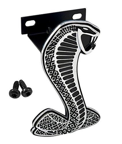 "1999-2004 Mustang Cobra Grille Emblem 4.0"" Tall with Bracket & Screws"