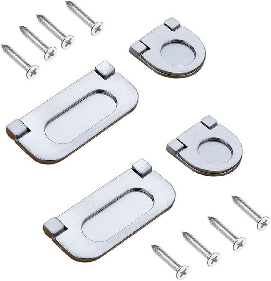 Inherited 4pcs Manijas invisibles, Mini Tiradores de barra de Acero inoxidable, para puerta de armario armario cajón asas Pack Set Mobiliario de oficina-Con tornillos (64mm&32mm): Amazon.es: Bricolaje y herramientas