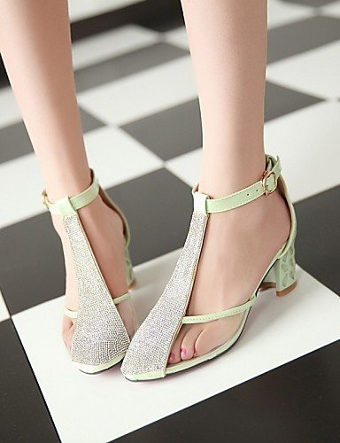 ShangYi Women's Shoes Fleece Chunky Heel Heels / Comfort / Pointed Toe / Closed Toe Heels Dress / Casual Green...