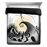jack skellington blanket - Disney Nightmare Before Christmas Jack Moonlight Madness Full/Queen Reversible Comforter, Black/White
