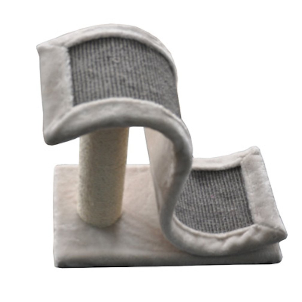 Iconic Pet Scratch and Slide Wave Sisal Post, Grey