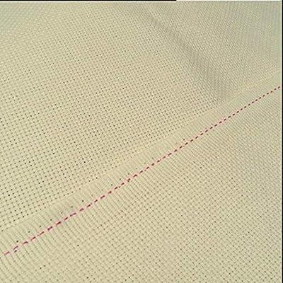 Bordado de algodón Tela de punto de cruz Tela Aida Tela 9CT / 11CT / 14CT / 16CT / 18CT, Amarillo claro, 50X50cm, 18CT: Amazon.es: Hogar