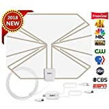 Skywire TV Antenna HD Digital, TV Antenna with 80 Miles Range Support 4K 1080P, Indoor Digital HDTV Antenna & Amplifier Signal Booster USB Power Supply-16.4ft Coax Cable by JONYJ