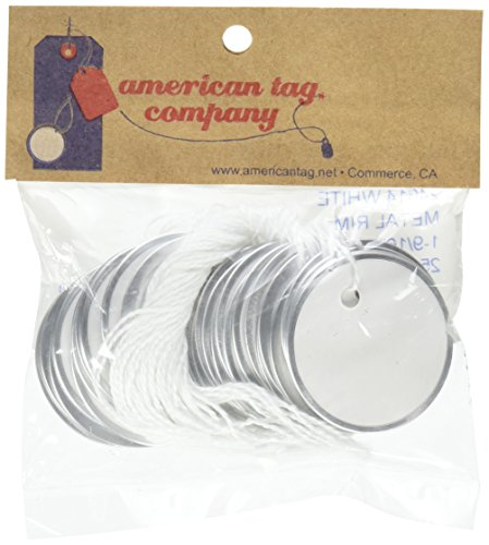 American Tag Company Metal Rim Tags, White (Metal Rim Tag)