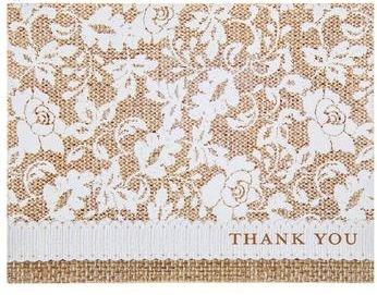 Burlap u0026 Lace Paper Plates u0026 Napkins (Thank You ...  sc 1 st  Amazon.com & Amazon.com: Burlap u0026 Lace Paper Plates u0026 Napkins (Thank You Notes ...