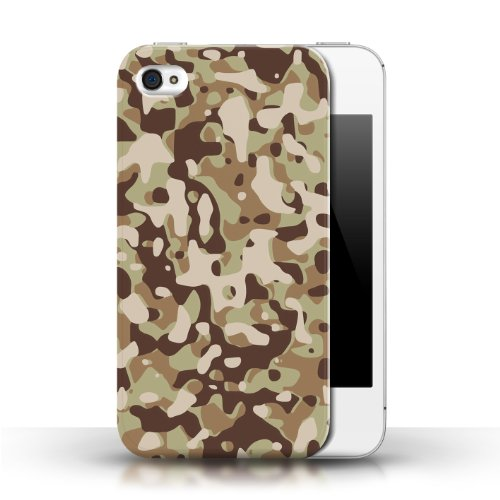 iCHOOSE Print Motif Coque de protection Case / Plastique manchon de telephone Coque pour Apple iPhone 4/4S / Collection Armée/Marine militaire/Camouflage / Marron 3