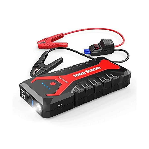 DBPOWER 2000A 20800mAh Portable Car Jump Starter (up to 8.0L Gas/6.5L Diesel Engines)Auto Battery Booster Pack with Dual USB Outputs, Type-C Port, and LED Flashlight