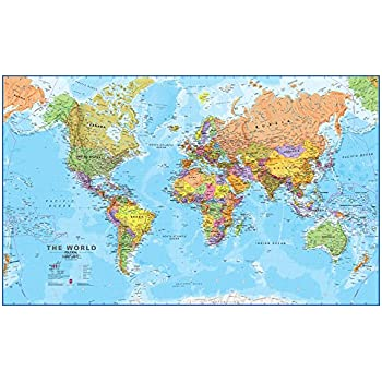 Amazon giant world megamap large wall map 7795 x 4803 inches giant world megamap large wall map 7795 x 4803 inches laminated gumiabroncs Choice Image