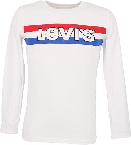 Camiseta Levis Striped Blanca Niña y Niño: Amazon.es: Ropa y accesorios
