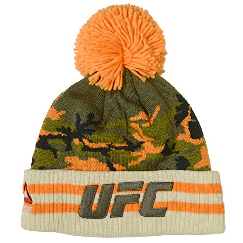 Reebok Ultimate Fighting Championship UFC Camo Knit Pom (Embroidered Ufc Beanie)