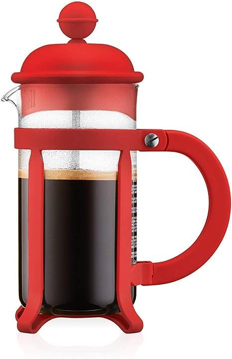 Bodum - 1903-294 - Java - Cafetera 3 Tazas - 0.35 l - Color Rojo: Amazon.es: Hogar