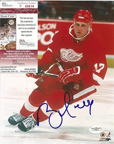 Brett Hull Signed Red Wings - BRETT HULL DETROIT RED WINGS SIGNED AUTOGRAPHED 8X10 PHOTO JSA COA #F65614