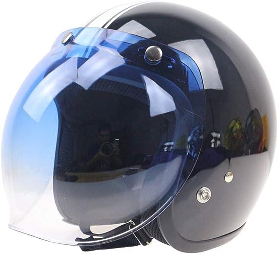Fansport Bubble Shield 3 Visi/èRe pour Casque avec Visi/èRe pour Casque R/éTro