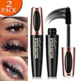 4D Silk Fiber Eyelash Mascara, Extra Long Lash Mascara and Thick, Long Lasting