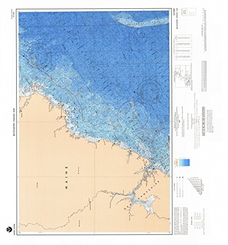 1989 Bathymetric Map--Fishing | Historical Kittery, NH - Kittery Nh