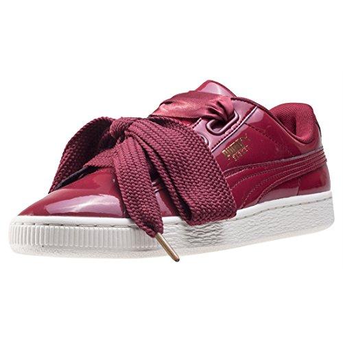 Puma Basket Heart Patent Wn's, Zapatillas para Mujer, Negro Rojo