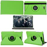 PANDA Dell Venue 8 PRO Smart Cover Case 360 Rotating Ultra-thin Leather Case Wiht Stand Covers for Dell Venue 8 PRO Windows 8.1 Hd Tablet (8 Inch) (GREEN)