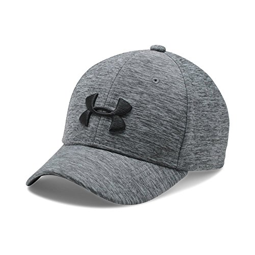 Under Armour Boys' Twist Closer Cap, Steel/Black, Small/Medium