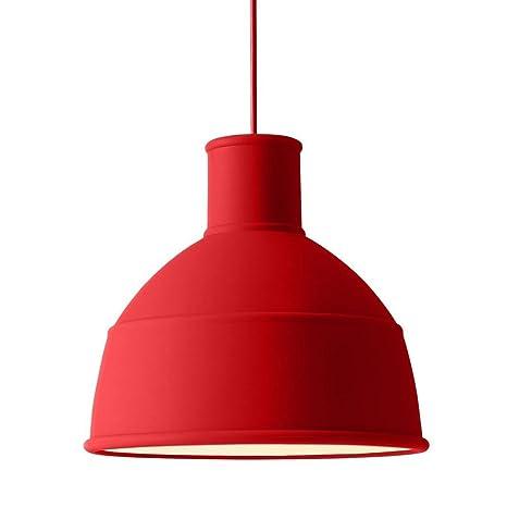 Muuto Unfold - Lámpara de techo, color rojo Ø 32,5 cm ...