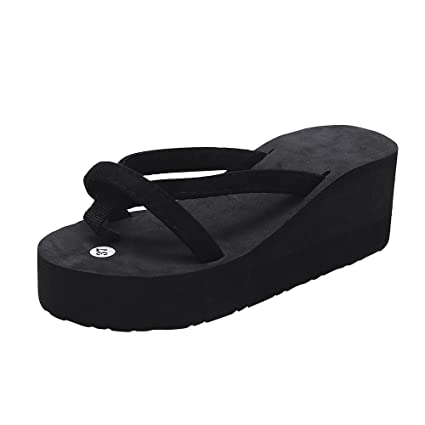 32c7270e9c38d Women's Girls Slipper Shoes, Jiayit Ladies Women Summer Fashion Slipper  Flip Flops Beach Wedge Thick
