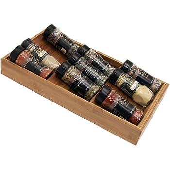Amazon com: Seville Classics 3-Tier Bamboo Spice Rack