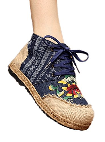 Soojun Womens Espadrilles Canvas Ankle
