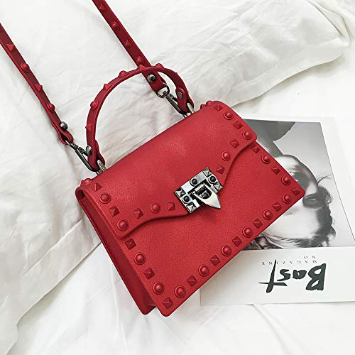 dépoli Petit bandoulière rouge carré Sac Sac WSLMHH coréenne du Paquet Le de Paragraphe Grand à avec Version même gelée Mat 1qxtPxB4
