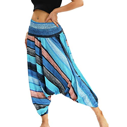 Pantaloni Hippy Stile2 Leggings Yoga Pantalone Donna Boho Grembiule Thai Alta Unisex Harem Festival Vita Lvguang B4qTSnwxAT