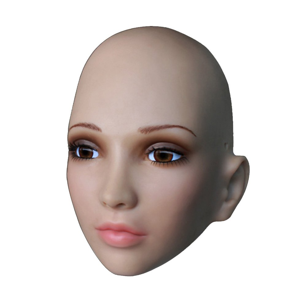 Soft Silicone Realistic Mask, Female Mask with Skin Texture Halloween CD TG SH20