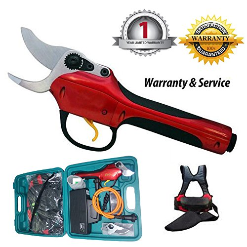 hellosy the Latest Technology Research and Development-SCA2 Battery High Speed Electric Grape Pruning Shears Essential Tool to Take Care of the Garden+1PCS import shear knife (Electric Pruning Shears)