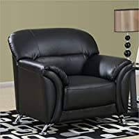 Global Furniture Vinyl Matching Chair with Black/Chrome Legs