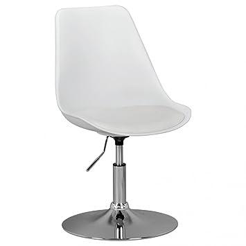 Corse Chaise De Salle A Manger Chaise Pivotante En Cuir Blanc Art