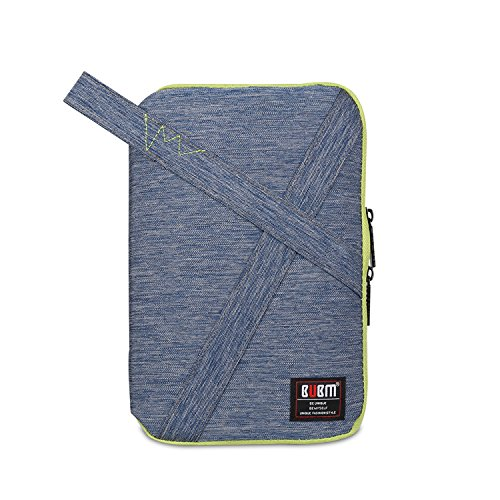 Electronics Accessories Bag Portable Handbag Universal Multifunctional Waterproof Set for Phone Various USB Charge Cable Travel Gear Organizer Bag with Handle Blue Large
