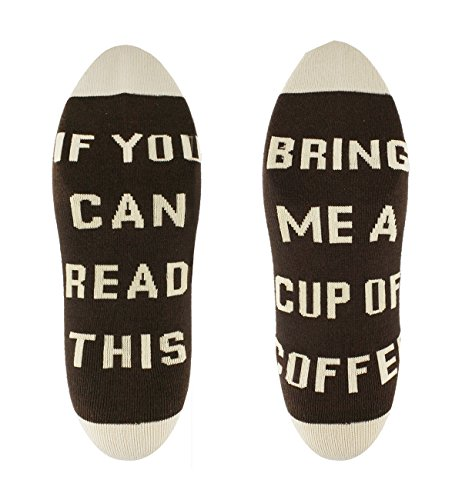 If You Can Read This Funny Saying Crew Socks for Men Women Bring Me Coffee