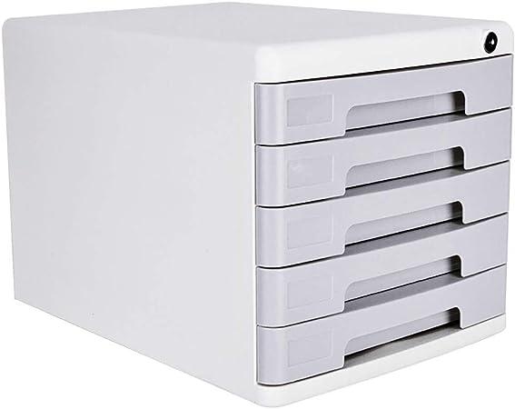 Archivadores de fichas Gabinetes for archivos Archivadores caja de almacenamiento de escritorio Muebles de oficina Archivador 4 cajones, Con cerradura Alta capacidad Puede almacenar archivos A4: Amazon.es: Hogar