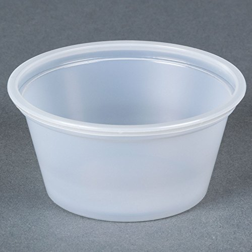 SafePro 2 oz Portion Cups with Lids (Souffle Cups/Jello Shot Cups), Case of 2500 cups and 2500 lids