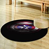 yoga mat marvel - Round Rugs for Bedroom Shield of Captain America Marvel cine ographic Universe Circle Rugs for Living Room