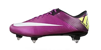 the latest a7227 10d4f Nike Mercurial Vapor Superfly III SG hommes chaussures de football Cleats - rouge  Plum -