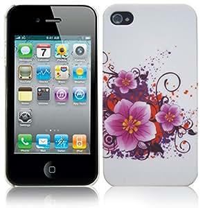 MARIPOSAS/FLORES LAPAROSCOPIO CAUCHUTADO CARCASA PARA iPHONE 4/4 G/4S
