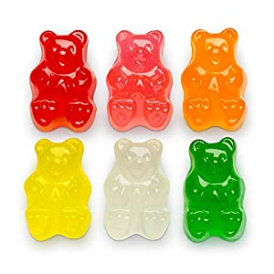 Albanese Candy Sugar Free Assorted Fruit Gummi Bears 5 Pound Bag, Sugar-Free Gummi Candy Assorted Flavor: Cherry, Strawberry, Green Apple, Pineapple, Lemon, Orange; Gluten Free Dairy Free Fat Free