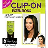 BOBBI BOSS CLIP-ON EXTENSIONS 18' 100% HUMAN HAIR #8 (LIGHT CHESTNUT BROWN) - 6 PIECES SINGLE PACK