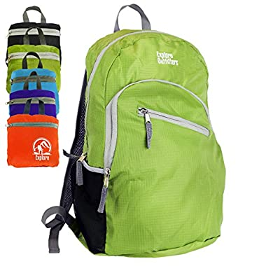 Insane Sale Best Foldable Ultra Lightweight Packable Backpack 35L (Green Large) For Men and Women Handy Daypack Travel, Camping, Outdoors, Hiking - Sale By Explore Outfitters