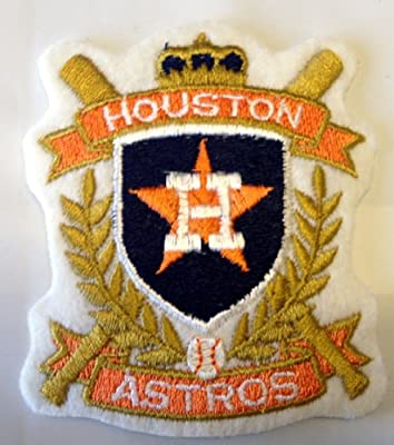 Vintage Sports Novelty Iron On Patch - Houston Astros MLB Baseball Team Crest Applique