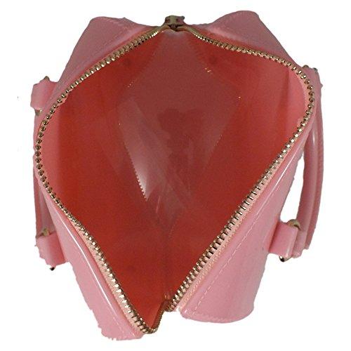 5 Plastica 17x9x11 Di Rosa Sacchetto Cm Donna Bag Manici È qwv8I4n