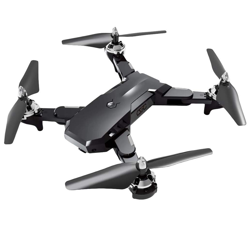 Lovewe CS7 Foldable Drone for Kids and Beginners with 2.4Ghz FPV Wifi 1080P HD Camera With Wide-Angle Lens, Remote Control RC Quadcopte Selfie Drone, One-Key Take-Off/Landing (Black)