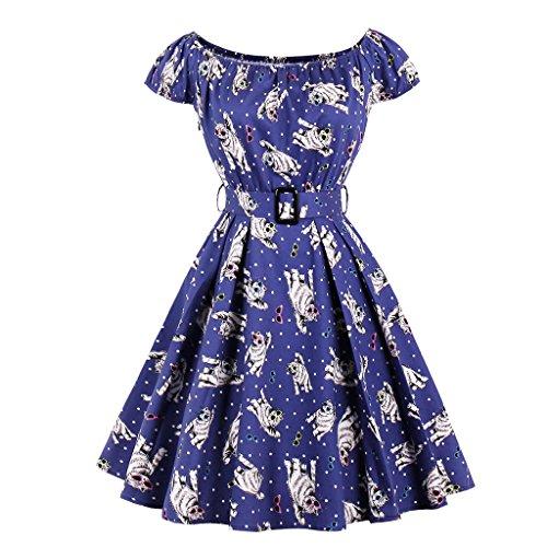 Vintage Dress Fuera del hombro viste túnica Retro Rockabilly columpio grande parte vestidos de mujer Plus Size 333