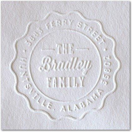(Custom Embosser Seal Hand Held Style- 101 Shiny EZ-Seal Round Decorative Personalized Custom Address Embosser With Name, Custom Embosser)