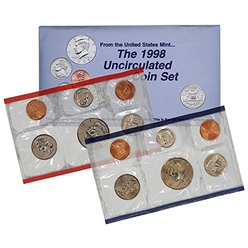 1998 US Mint P&D 10-Coin Uncirculated Mint Set in OGP BU