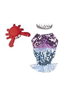 Casual Canine Glim-Mermaid Dog Costume, X-Large, Purple